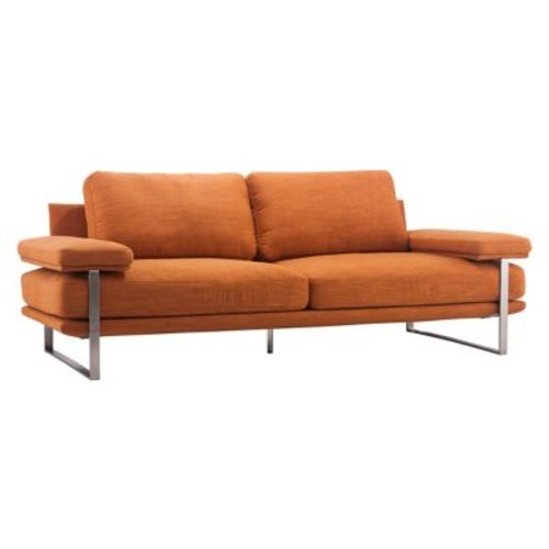 Zuo Modern Jonkoping Sofa Sunkist Orange (WC900625)