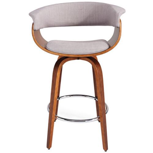 Upholstered Counter Height Swivel Bar Stool
