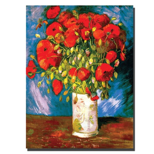 Trademark Global Vincent van Gogh 'Poppies' Canvas Art [Overall Dimensions : 24x32]