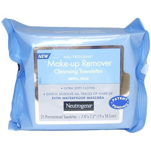 Neutrogena Makeup Remover Cleansing Towelettes, Refill Pack, 25 Count [Pack of 1]