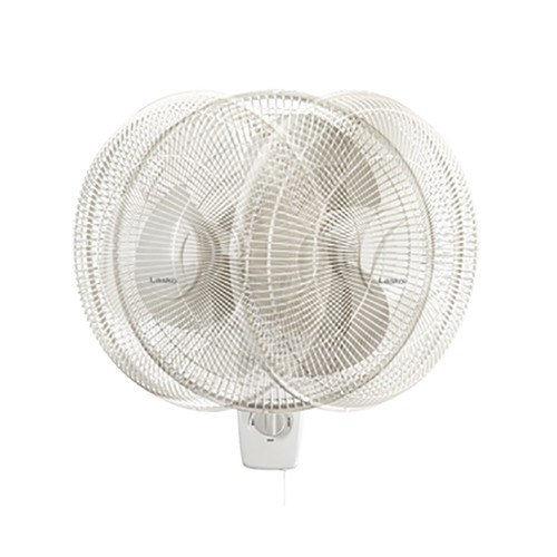 Lasko 16 Inch Oscillating 3 Speed 3 Blade Pull Cord Wall Mount Fan | 3016