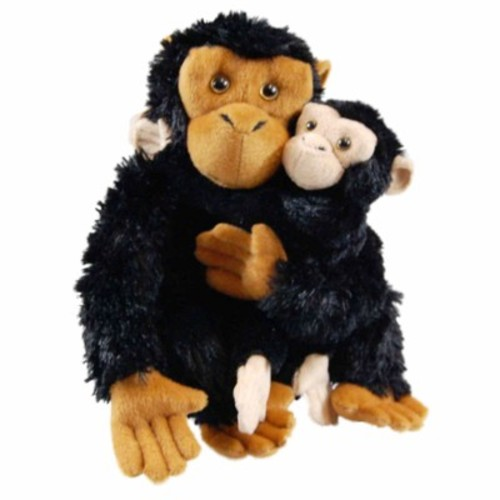 Dr. Goodall Inspired Mother & Baby Plush Chimpanzee, Accessories For 18 In Dolls