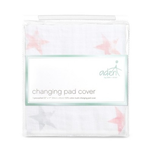 Aden by Aden + Anais Changing Pad Cover - Doll - Light Pink