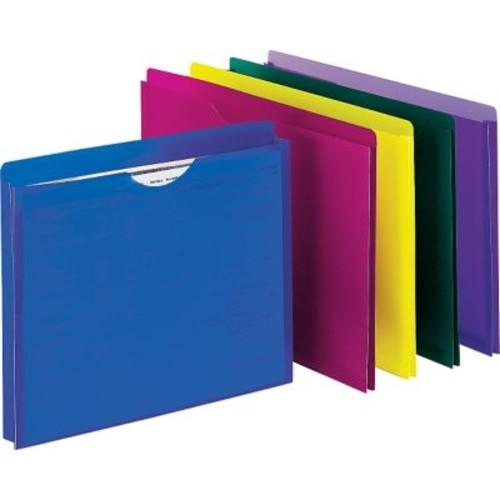 Staples Plastic File Jacket, Letter, Assorted, 10/Pack