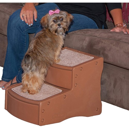 Pet Gear Easy Step II Pet Stairs, 2-step/for Cats and Dogs up to 75-pounds [Light Cocoa]