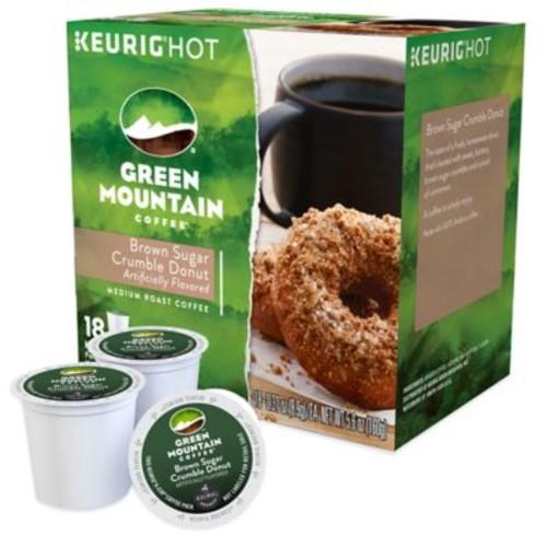 Keurig K-Cup Pack 18-Count Green Mountain Coffee Brown Sugar Crumble Donut Coffee