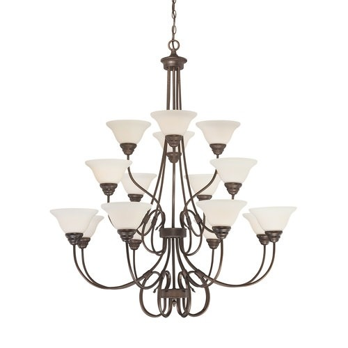 Millennium Lighting 1366 Fulton 16 Light Three Tier Chandelier