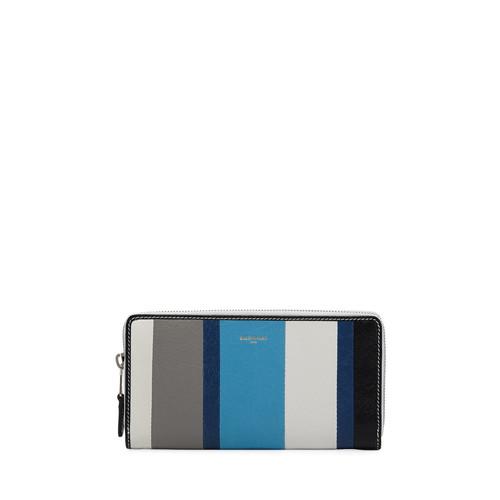 BALENCIAGA Bazar Contza Striped Leather Wallet