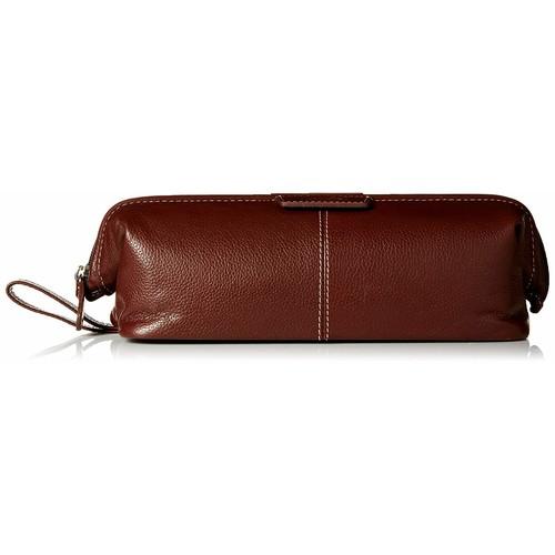 Dopp Men's Veneto Leather Traditional Framed Travel Kit [Brown, One Size]