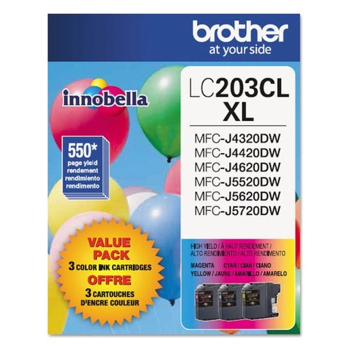 Brother LC2033PKS Innobella High-Yield Ink Cyan/Magenta/Yellow 3/Pack