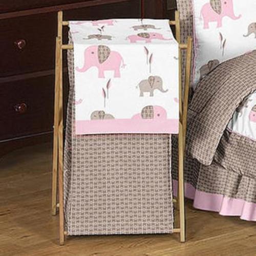 Sweet Jojo Designs Elephant Pink Laundry Hamper