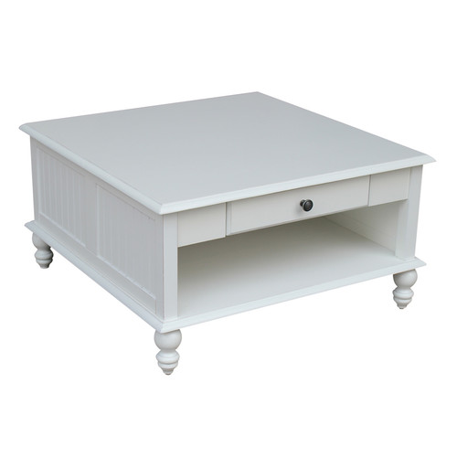International Concepts Cottage Square Coffe Table - Beach White