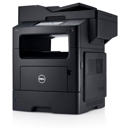 Dell B3465DNF Laser Multifunction Printer - Monochrome - Plain Paper Print - Desktop - Copier/Fax/Printer/Scanner - 50 ppm Mono Print - 1200 x 1200 dpi Print - Automatic Duplex Print - 50 cpm Mono Copy - 7