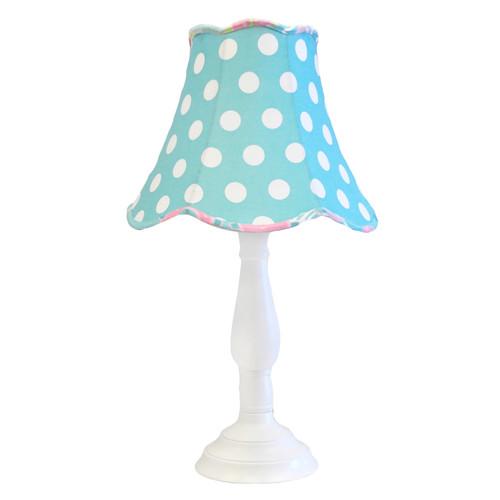 My Baby Sam Pixie Baby Lamp Shade and Base, Aqua