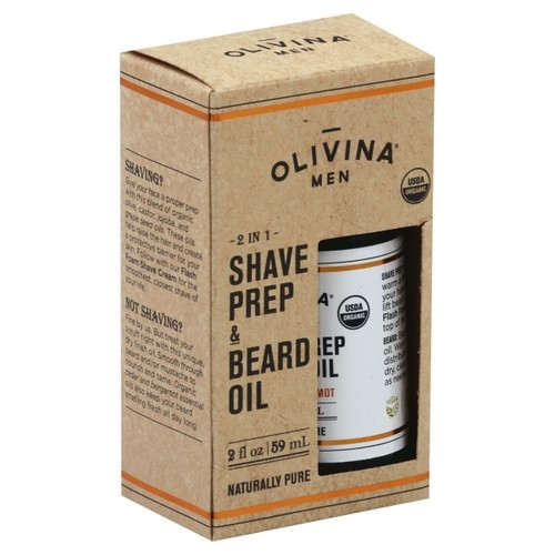 Olivina Men 2 In 1 Shave Prep & Beard Oil - 2 oz
