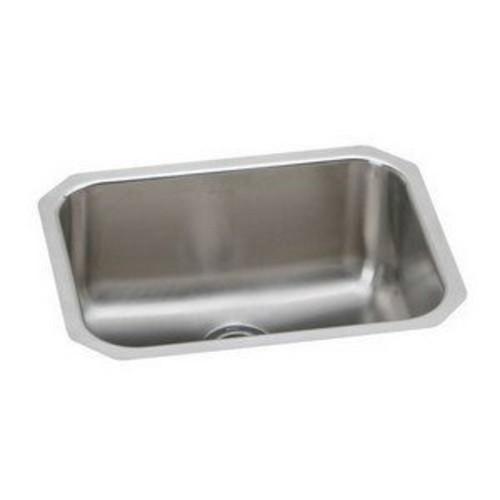 Elkao|#Elkay PLAUH2115 18 Gauge Stainless Steel 23.5 Inch x 18.25 Inch x 7.5 Inch single Bowl Undermount Laundry/Utility Sink,