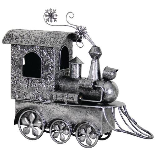 Exhart 26.5 in. Garden Holiday Decor Train