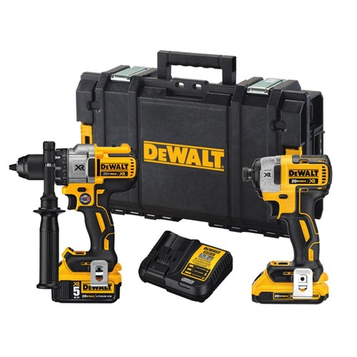DEWALT 20-Volt MAX XR Lithium-Ion Cordless Drill/Driver and Impact Combo Kit (2-Tool) with 2Ah and 4Ah Batteries and Tough Case
