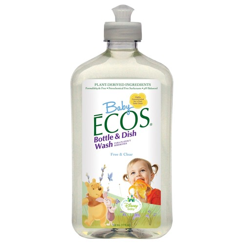 Earth Friendly Products Baby Ecos Bottle & Dish Wash, 17 Oz