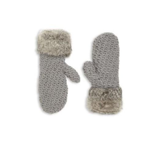 Surell - Girl's Rabbit Fur Trim Mittens