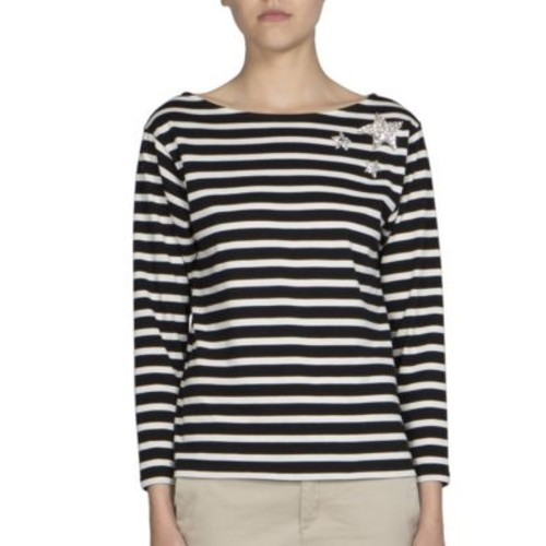 SAINT LAURENT Striped Star Tee