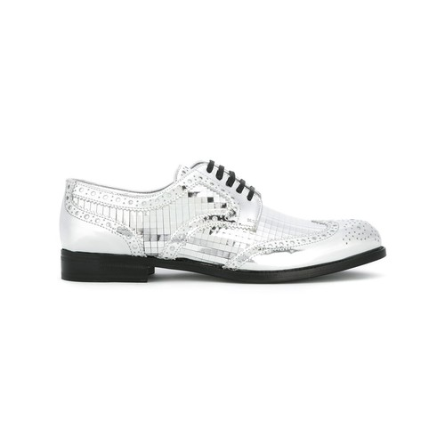mirrored brogues