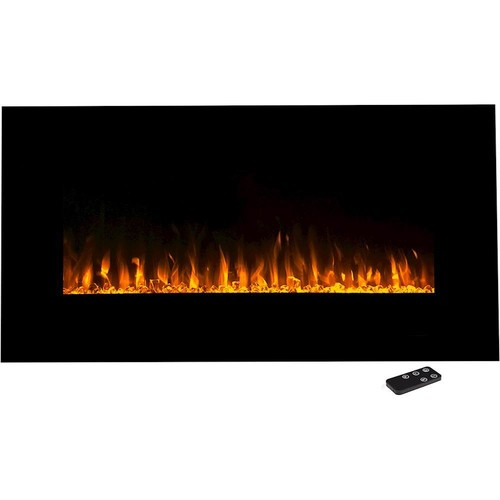 Northwest - Wall Mount Electric Fireplace - Black