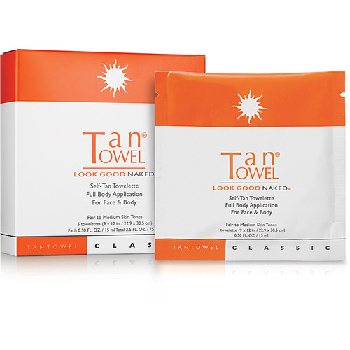 Self-Tan Towelette Full Body Application For Face & Body