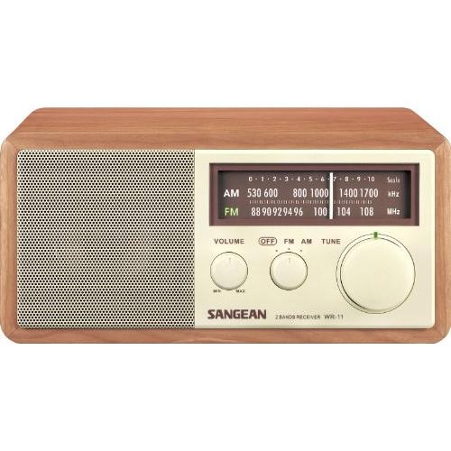 Sangean WR-11 Wood Cabinet AM/FM Table Top Analog Radio [WR-11]