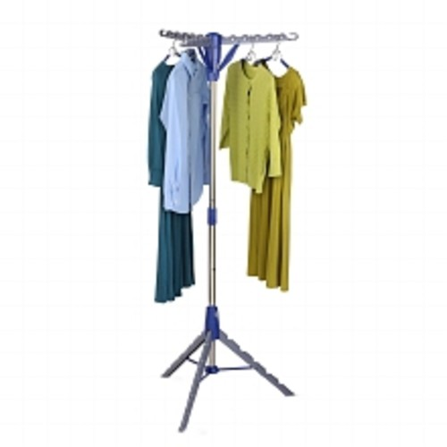Honey Can Do Tripod Drying Rack Blue and Gray