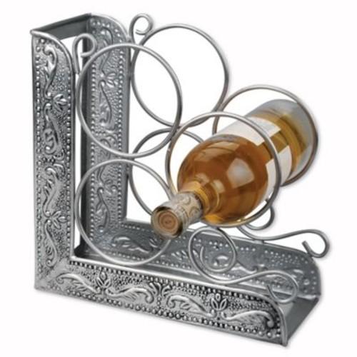 Dutch International Embossed Antique Victoria 3-Bottle Bookend Wine Rack
