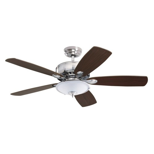 Emerson Ceiling Fans CF901BS Prima Energy Star Ceiling Fan With Wall Control, Light Kit Adaptable, Brushed Steel Finish [Brushed Steel, Prima]