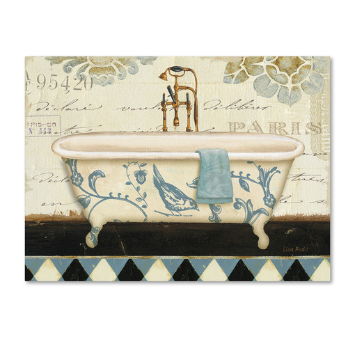Trademark Global Lisa Audit 'Marche de Fleurs Bath II' Canvas Art