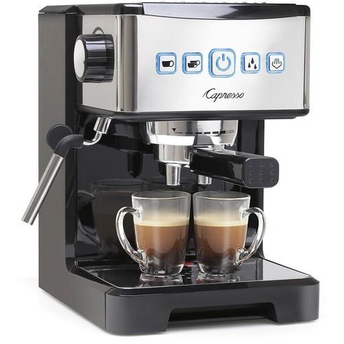 Capresso - Coffeemaker - Polished stainless steel/black