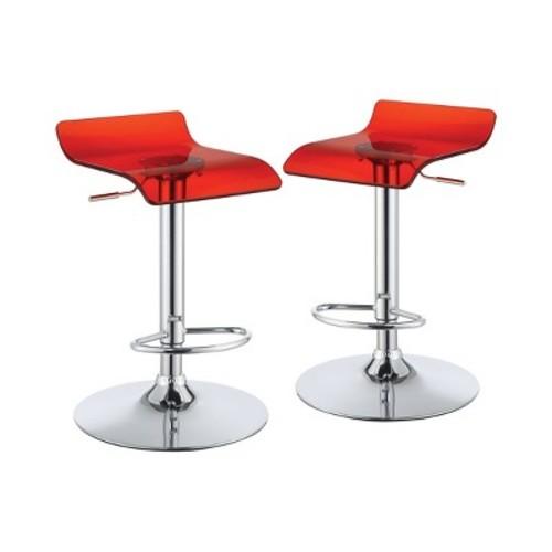 Ellie Adjustable Low Back Barstool - Furniture of America