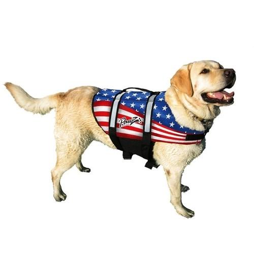 Pawz Pet Products Nylon Dog Life Jacket Extra Small Flag