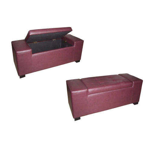 ORE International Benches & Settees Red Storage Bench