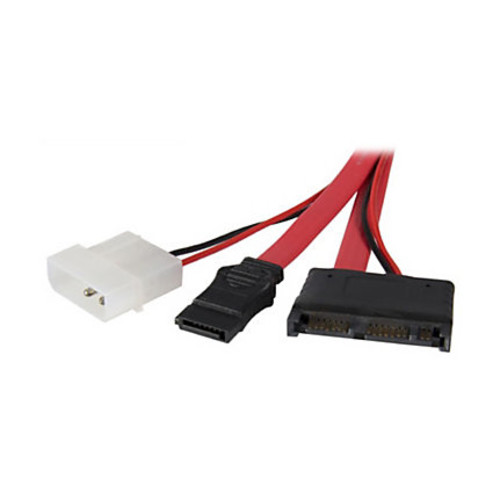 StarTech.com 12in Micro SATA to SATA with LP4 Power Cable Adapter