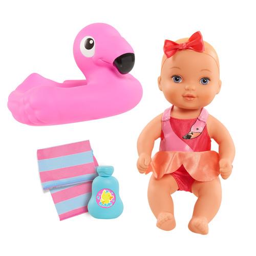 Waterbabies Bathtime Fun Baby Doll - Flamingo