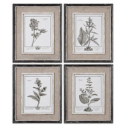 Set of 4 Framed Gray Study Art Pieces