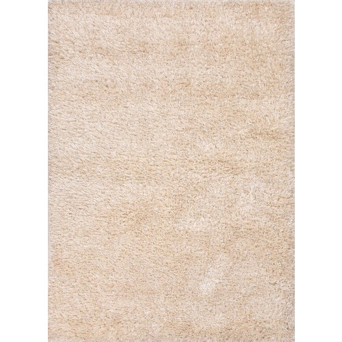 Nadia Collection Wool and Polyester Area Rug in Bleached Linen & White by Jaipur - 2' x 3'