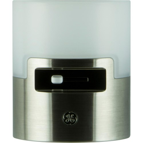 GE 2W LED Dimmable Night Light, Brushed Nickel