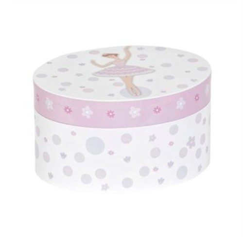 Mele & Co. Zoe Girl's Musical Ballerina Jewelry Box in White