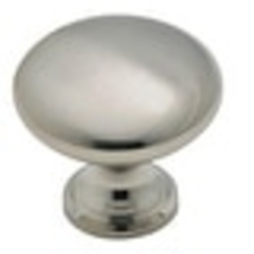 Amerock 14404SCH Round Cabinet Knob, Brushed Chrome, 1-3/16