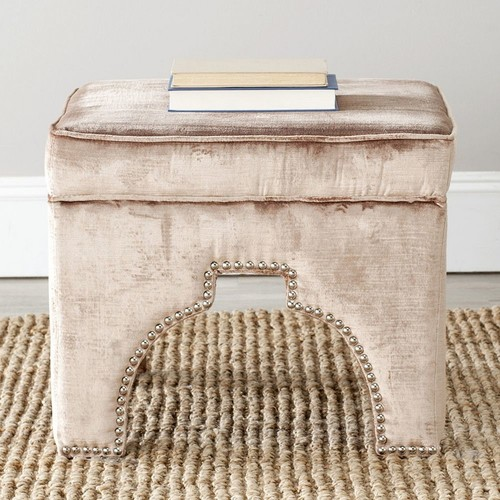 Safavieh Grant Upholstered Ottoman, Multiple Colors