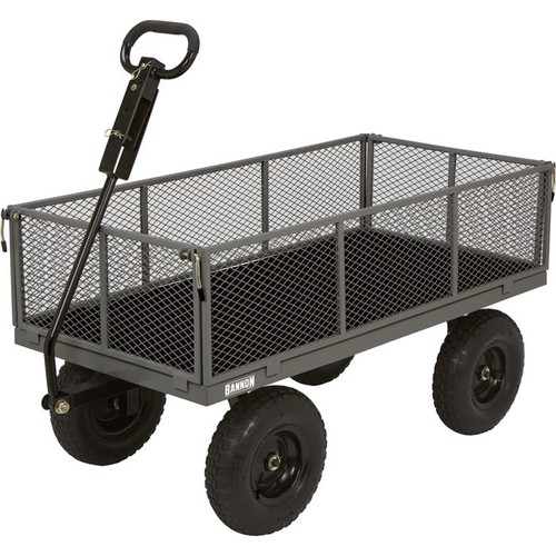 Bannon Industrial-Grade Steel Garden Wagon  1,200-Lb. Capacity, 49in.L x 24 1/2in.W, 13in. Tires
