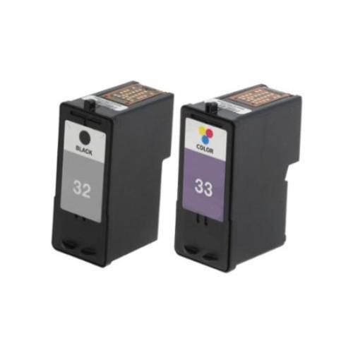 2 Pack Lexmark 18C0032 #32 18C0033 #33 Compatible Ink Cartridge For Lexmark Z810 Z812 ( Pack of 2 )