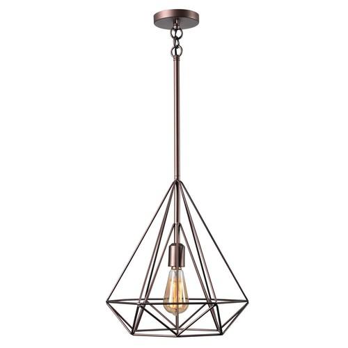 Kenroy Home Pyramid 1-Light Vintage Copper Pendant
