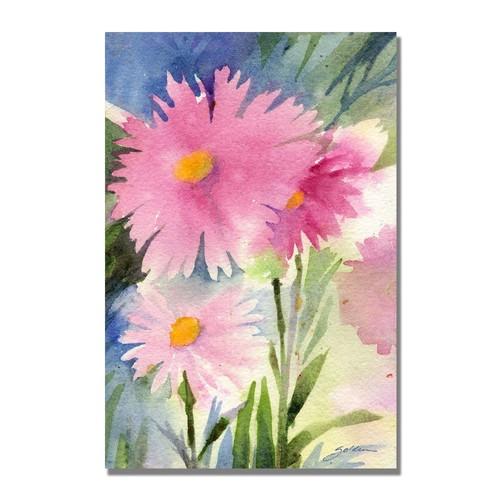 Trademark Global Sheila Golden 'Aster Shadow' Canvas Art [Overall Dimensions : 16x24]