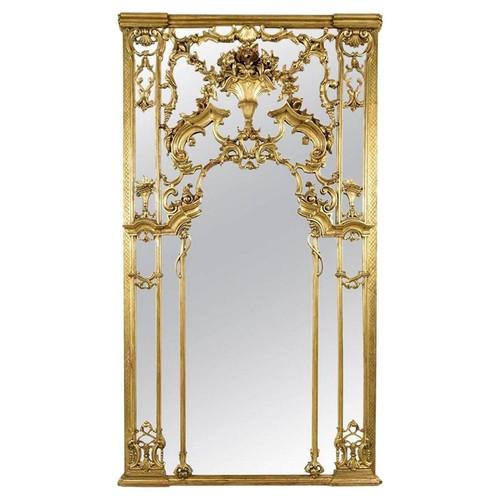 Large Antique Louis XVI Gilt Mirror